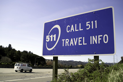 About 511 section - call 511 roadside sign photo