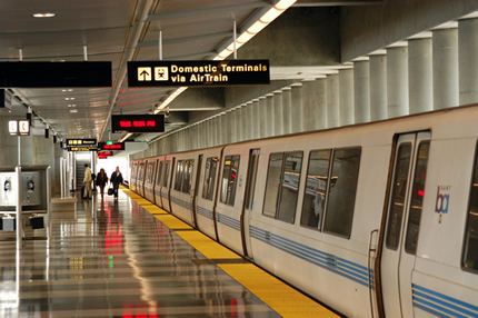 Airports - BART train at airport photo